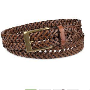 Dockers Braided belt 34 gold tone buckle